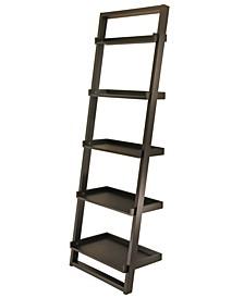 Wood Bailey 5-Tier Leaning Shelf