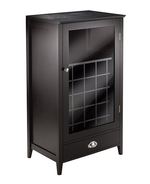 Winsome Wood Bordeaux Modular Wine Cabinet
