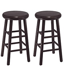 "Oakley 2-Piece 24"" Swivel Seat Bar Stool Set"