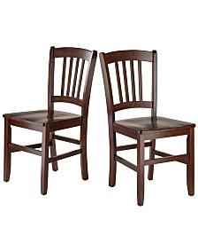 Winsome Wood Madison 2-Piece Slat Back Chair Set