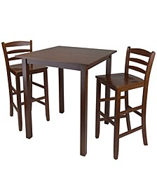 """Parkland 3-Piece High Table with 29"""" Ladder Back Stool"""