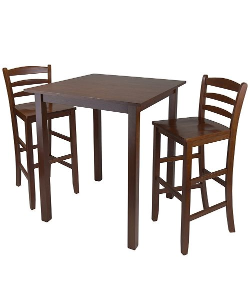 """Winsome Wood Parkland 3-Piece High Table with 29"""" Ladder Back Stool"""