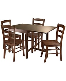 Lynden 5-Piece Dining Table with 4 Ladder Back Chairs