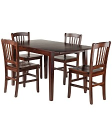 Winsome Wood Anna 5-Piece Dining Table Set with Slat Back Chairs