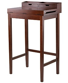Winsome Wood Brighton High Desk with 2 Drawers