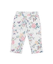 Little Girls Floral Print Capri