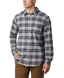 Columbia Men's Tall Cornell Woods™ Regular-Fit Stretch Plaid Flannel Shirt