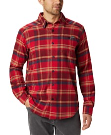 Columbia Men's Cornell Woods™ Regular-Fit Stretch Plaid Flannel Shirt