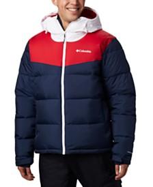 Columbia Men's Iceline Ridge™ Colorblocked Quilted Logo-Print Ski Jacket