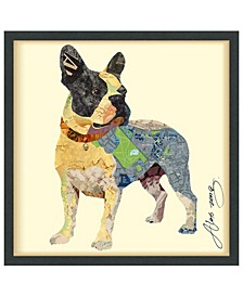 'Boston Terrier' Dimensional Collage Wall Art - 25'' x 25''