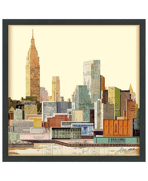 Empire Art Direct 'New York City Skyline' Dimensional Collage Wall Art - 25'' x 25''
