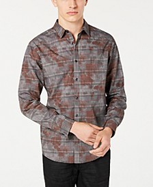 INC Men's Glen Plaid Camo Shirt, Created for Macy's