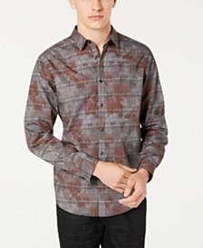 I.N.C. Men's Glen Plaid Camo Shirt, Created for Macy's
