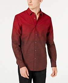 INC Men's Heathered Ombré Shirt, Created for Macy's