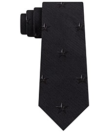 Men's Slim Broken Stripe Star-Print Tie