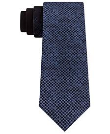 Men's Slim Ombré Abstract Check Tie