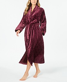 Women's Long Plush Robe, Created for Macy's