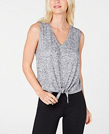 V-Neck Tie-Front Tank Top