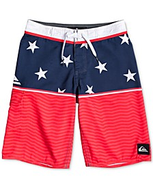Big Boys Everyday Division Star-Print Swim Trunks