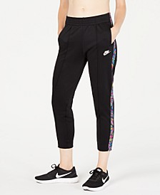 Women's Sportswear Printed-Stripe High-Rise Pants