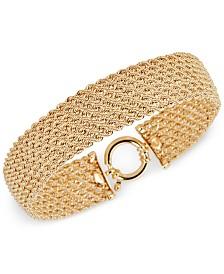 Italian Gold Multi-Row Rope Bracelet in 14k Gold