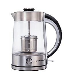 Hamilton Beach Tea Steeping 1.7-L Glass Kettle