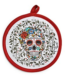 Fiesta Skull & Vine Pot Holder