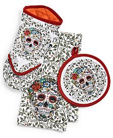Fiesta Skull & Vine Kitchen Linens