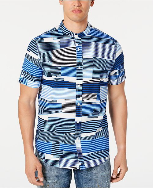 Sean John Men's Printed Shirt