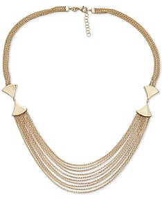 4fc71c420 Italian Gold Multi-Row Statement Necklace in 14k Gold, 17