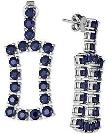 Black Sapphire Statement Earrings (11 ct. t.w.) in Sterling Silver
