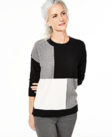 Colorblock Cashmere Sweater, Created For Macy's