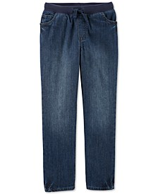 Big Boys Cotton Elastic Waist Jeans