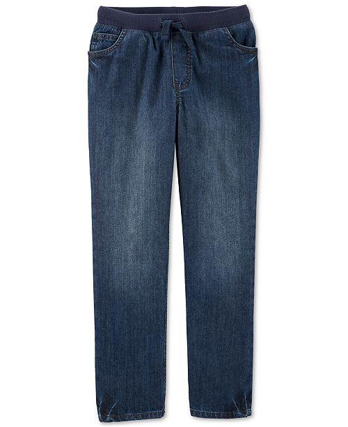 Carter's Big Boys Cotton Elastic Waist Jeans