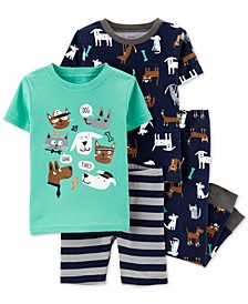 Toddler Boys 4-Pc. Cotton Pets Pajama Set