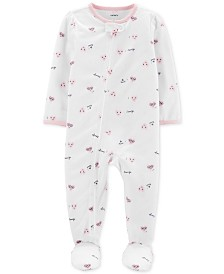 Carter's Baby Girls 1-Pc. Heart-Print Footed Pajamas