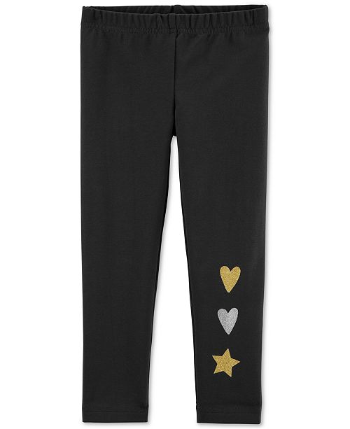 Carter's Toddler Girls Glitter Heart & Star Leggings