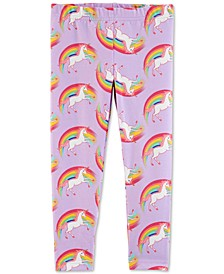 Toddler Girls Rainbow Unicorn Leggings