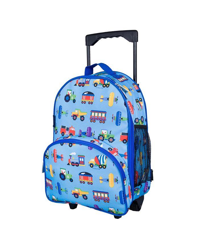 Wildkin - Trains, Planes & Trucks Rolling Luggage