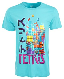 Ripple Junction Men's Tetris Kanji Graphic T-Shirt