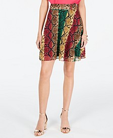 INC Python-Print Mini Skirt, Created for Macy's