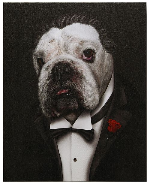 Empire Art Direct Pets Rock 'Dog Father' Graphic Art Print on Wrapped Canvas Wall Art - 20'' x 16''