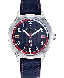 N83 Men's NAPCFS910 Crissy Field Blue/Red Silicone Strap Watch