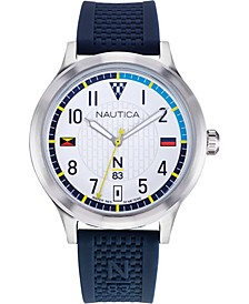 N83 Men's NAPCFS903 Crissy Field Blue/White Silicone Strap Watch