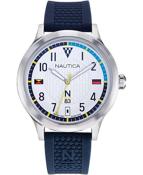 Nautica N83 Men's NAPCFS903 Crissy Field Blue/White Silicone Strap Watch
