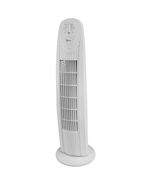 "Comfort Zone Cztf329Wt 29"" Oscillating 3-Speed Tower Fan"