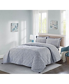 Jonesworks Theo 3-Piece Full/Queen Quilt Set