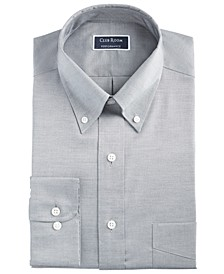 Men's Classic/Regular Fit Stretch Wrinkle-Resistant Solid Pinpoint Dress Shirt, Created for Macy's