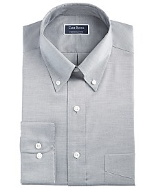 Club Room Men's Classic/Regular Fit Stretch Wrinkle-Resistant Solid Pinpoint Dress Shirt, Created for Macy's