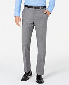 Men's Classic-Fit UltraFlex Stretch Black/White Mini-Houndstooth Suit Pants